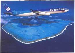 Aviation Postcard- AIR TAHITI NUI Airbus 340  (SET-3) - 1946-....: Moderne