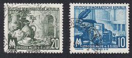 GERMANIA DDR - 1955 - Serie Completa Usata Yvert 213/214. Fiera D'autunno Di Lipsia. - [6] Repubblica Democratica