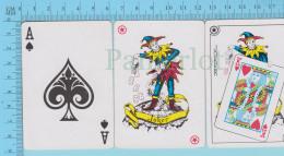 Cartes à Jouer   - 2 Joker + As De Pic  -Fou Du Roi - Recto  Pez - 2scans - Cartes à Jouer Classiques