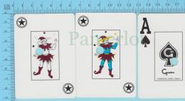 Cartes à Jouer   - 2 Joker + As De Pic   -Fou Du Roi Jongleur - Recto Casino Charlevoix Cancellé  - 2scans - Cartes à Jouer Classiques
