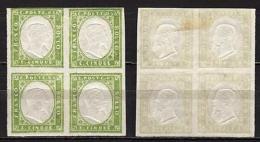 #1903 - Antichi Stati, Sardegna - 5 Cent In Quartina - Linguellati (* MH) - Sardinia
