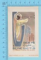 Imalit 127 -  Oca Me Cum Benedictis - Holy Card Image Pieuse Santini - 2 Scans - Images Religieuses