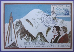 Carte Postale Maximum - FDC - Mont-Blanc - 1986 - YT 2422 - Chamonix - Cartes-Maximum