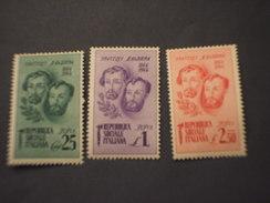ITALIA REGNO - 1944 FRATELLI BANDIERA  3 VALORI - NUOVI(++) - 1900-44 Victor Emmanuel III.