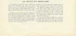 1925 : Document, L'OBSERVATOIRE DE PARIS (8 Pages Illustrées) Lunette Méridienne, Bordeaux, Lunette équatoriale, Bureaux - Non Classés