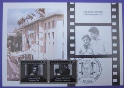 Carte Postale Maximum - FDC - Cinéma - 1986 - Becker Truffaut - YT 2441 2442 - Cartes-Maximum