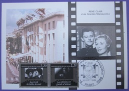 Carte Postale Maximum - FDC - Cinéma - 1986 - Clair - Gremillon - YT 2439 2440 - Cartes-Maximum