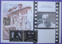 Carte Postale Maximum - FDC - Cinéma - 1986 - Marcel Pagnol - Jean Epstein - YT 2437 2438 - Cartes-Maximum