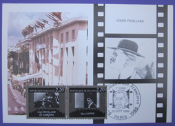 Carte Postale Maximum - FDC - Cinéma - 1986 - Louis Feuillade - Max Linder - YT 2433 2434 - Cartes-Maximum