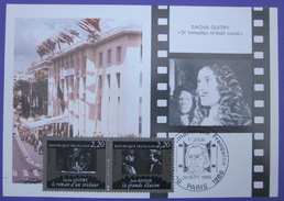 Carte Postale Maximum - FDC - Cinéma - 1986 - Sacha Guitri - Jean Renoir - YT 2435 2436 - Cartes-Maximum