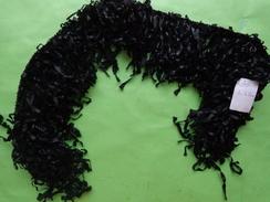 Boa Noir (en Ruban) Ancien-decor De Col Ou Autre Lot 20 -long 68cm - Laces & Cloth