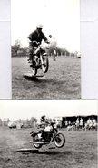 2 Photos Originales Motocyclisme, Motocyclette & Moto MZ ETZ 250 & Saut De Tremplin - Permis Moto - Cyclisme