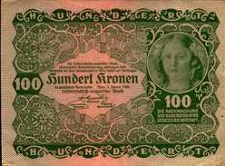 AUTRICHE 100  KRONEN Du 2-1-1922  Pick 77  XF/SUP - Autriche
