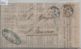 1865 Nr. 28/20 - Stempel: Zürich Nach Bauma Liverpool Cotton Brokers Price List 26. Juni 1865 - 1862-1881 Helvetia Assise (dentelés)