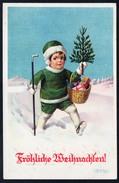 A4708 - Alte Glückwunschkarte - Weihnachten Künstlerkarte - Reckziegel - Gel 1939 - Sin Clasificación