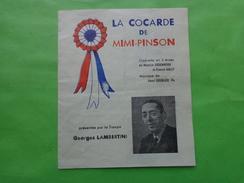 Programme La Cocarde De Mimi-pinson Operettes En 3 Actes -georges Lambertini - Programs