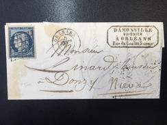 FRANCE - Petite Lettre Avec N° 4 Bleu - 5 Février 1851 - 1862 Napoleon III