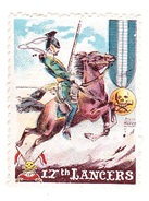 Vignette Militaire Delandre - Angleterre - 17th Lancers - Erinnofilia