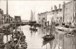 Archivio Filippi Trattoria Altanella Giudecca Porto Port Fishing Boat Pescatori Veil Boat - Italie