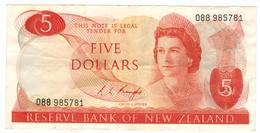 New Zealand 5 Dollars , Crisp VF. - New Zealand