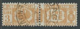1927-32 REGNO USATO PACCHI POSTALI 3 LIRE - Z12 - 1900-44 Victor Emmanuel III