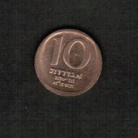 ISRAEL   10 NEW AGOROT 1981 (JE 5741)  (KM #108) - Israel