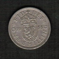 GREAT BRITAIN  1 SHILLING 1955 (KM #904) - 1902-1971 : Post-Victorian Coins