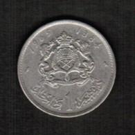 MOROCCO  1 DIRHAM 1965 (AH 1384) (Y # 56) - Morocco