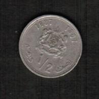 MOROCCO  1/2 DIRHAM 1987 (AH 1407) (Y # 87) - Morocco