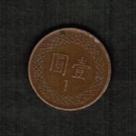 TAIWAN  1 YUAN 1981 (YR 70) (Y # 551) - Taiwan