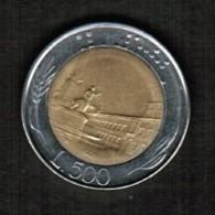 ITALY  500 LIRE 1985 (KM # 111) - 1946-… : Republic