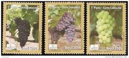 BRAZIL #3089  -  GRAPES - RAISINS -  UVAS  -  3v   2009 - Brasil