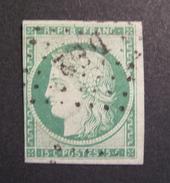 """LOT GD/217 - CERES N°2 - BUREAU """" DS2 """" DE PARIS - Cote : 1000,00 € - 1849-1850 Ceres"""