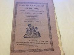 L'AMI DE LA RELIGION Et DU ROI, 1815, Journal Ecclésiastique, Politique Et Littéraire - Journaux - Quotidiens