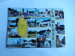 Dep 55 Meuse Carte Departement Geographique Et Blason  Multivues 15 Vues - Cartes Géographiques
