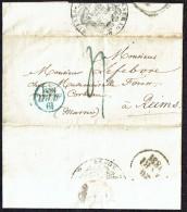1831  Lettre De Paris , Ministère De La Guere, Pour Reims - Postmark Collection (Covers)