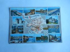 Dep 44 Loire Atlantique   Carte Departement Geographique Et Blason   Multivues 12 Vues - Cartes Géographiques