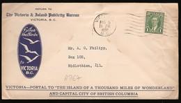 A767 - Lettre Du Canada, Lettre De Victoria (B.C.) En 1938 - Covers & Documents