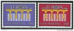 San Marino 1984. Michel #1294/95 MNH/Luxe. Europa-CEPT. Bridge. - Europa-CEPT