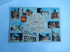 Dep 24 La Dordogne    Carte Departement Geographique Et Blason   Multivues 10 Vues - Cartes Géographiques