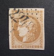 LOT GD/487 - CERES EMISSION DE BORDEAUX N°43Ae Bistre Roux - GC 2240 MARSEILLE - Cote : 400,00 € - 1870 Emission De Bordeaux