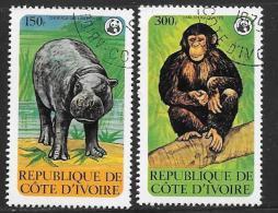 Ivory Coast, Scott # 532-3 Used Wildlife Protection, 1979 - Ivory Coast (1960-...)
