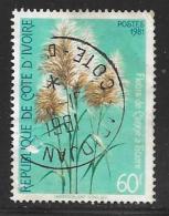 Ivory Coast, Scott # 591 Used Sugar Cane, 1981 - Ivory Coast (1960-...)
