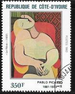 Ivory Coast, Scott # 649 Used Picasso Painting, 1982 - Ivory Coast (1960-...)
