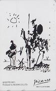 Télécarte Japon - PEINTURE ESPAGNE - PICASSO - DON QUICHOTE & CHEVAL - SPAIN PAINTING Japan Phonecard Tarjeta Tel  1648 - Pintura
