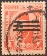 EGIPTO 1953 Serie Basica. Ry Fuad. Sobrecargado Con Tres Barras. USADO - USED. - Egipto