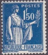 France Type Paix N°  288 ** Le 1fr50 Bleu - 1932-39 Paix