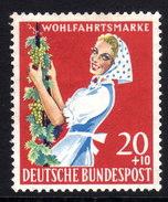 BRD 1958 * Winzerin Mit Weinrebe - MLH Postfrisch Mit Falz - Wein & Alkohol