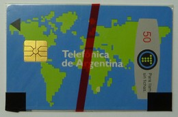 ARGENTINA - Gemplus - Maps -  2nd Issue - 50 Units - Mint Blister - Argentina