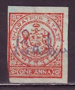 India-Bharatpur State 1 Anna Court Fee/Revenue Type 23 #DF639 - Indien